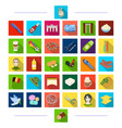entertainment animal and other web icon in flat vector image