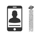 mobile contact icon with work bonus vector image