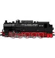 old black red steam locomotive vector image