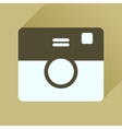 Flat icon with long shadow retro camera vector image