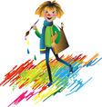 artist child vector image