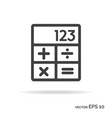 calculator outline icon black color vector image