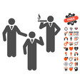 discuss standing persons icon with lovely bonus vector image