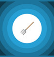 isolated pitchfork flat icon hay fork vector image