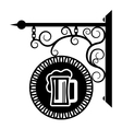 Pub beer and alcohol vector image