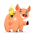 successful piggy bank vector image