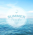 Summer Time Poster vector image
