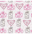 Seamless pattern with gifts and hearts vector image vector image