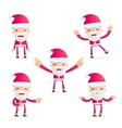 Santa in various poses vector image