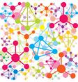colored molecules vector image vector image