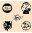 set of pizza labels design elements vector image