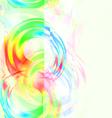 Glitch art background vector image