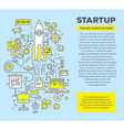 creative concept of startup with header and vector image