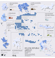 Dot And Flag Map Of Greece Hellenic Republic vector image