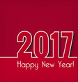 Happy New Year 2017 Greeting card New Year vector image