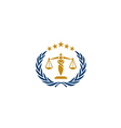 law icon justice business logo vector image