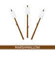 marshmallow on stick vector image