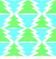 Seamless multicolored spruces isolated on white vector image