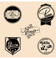 set of pizza labels design elements vector image