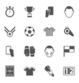 Soccer icons black vector image