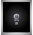 Transparent glass skull vector image
