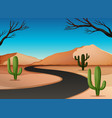 desert land with road vector image
