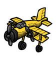 cartoon image of plane vector image