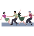 Lindy hop competition vector image