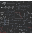 Seamless pattern of the formulas on the physics vector image