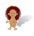 A funny cartoon hedgehog on a white background vector image