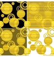 Classic dotted seamless gold pattern vector image