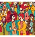 Gay couple lgbt and crowd people coming out vector image