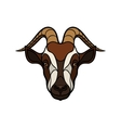Goat head image on white background vector image