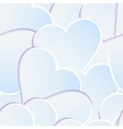 Paper heart banner with drop shadows EPS 10 vector image