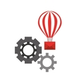 balloon email sending gears vector image