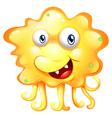 An angry yellow monster vector image