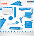 Blue infographic timeline elements template vector image vector image