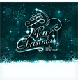 Magic Christmas typography with light vector image