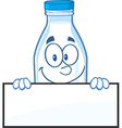 Water bottle cartoon vector image