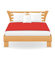 double bed 04 vector image vector image