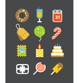 Different holiday icons set with rounded corners vector image vector image