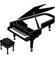 Grand piano icon vector image vector image