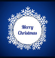 blue merry christmas greeting card vector image