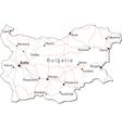 Bulgaria Black White Map vector image