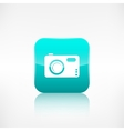 Digital photo camera icon Application button vector image
