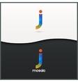 letter J logo alphabet mosaic icon set background vector image