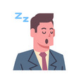 male napping emotion icon isolated avatar man vector image