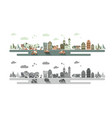 old town and urban traffic vector image