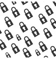 padlock security object background vector image