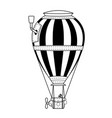 steampunk emptyl hot air balloon vector image